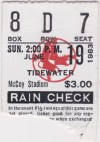 1983 Pawtucket Red Sox ticket stub vs Tidewater