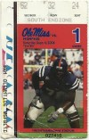 2004 NCAAF Mississippi Rebels ticket stub vs Memphis State