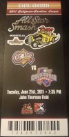 2011 California vs Carolina League All Star Game ticket stub