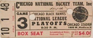 1940's Chicago Blackhawks Playoff ticket stub 40