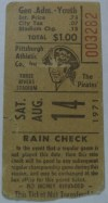 1971 Bob Gibson 1st No Hitter ticket stub