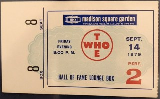 1979 The Who ticket stub Madison Square Garden 12