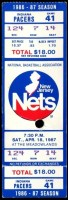 1987 New Jersey Nets ticket stub vs Indiana