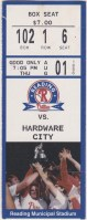 1995 Reading Phillies ticket stub vs Hardware City