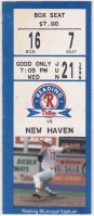 1995 Reading Phillies ticket stub vs New Haven