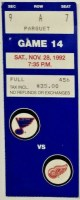 1992 St. Louis Blues ticket stub vs Detroit