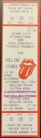 1981 Rolling Stones ticket stub Dallas Cotton Bowl