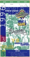 1996 World Series Game 3 ticket stub Braves Yankees