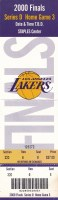 2000 NBA Finals Game 6 Ticket Stub Lakers Pacers