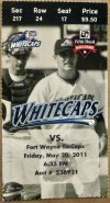 2011 West Michigan Whitecaps ticket vs Ft. Wayne