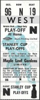 1968 Toronto Maple Leafs Playoffs ticket stub