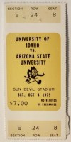 1975 NCAAF Arizona State ticket stub vs Idaho