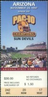 1997 NCAAF Arizona State ticket stub vs Arizona Pat Tillman