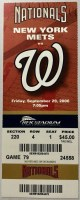 2006 Washington Nationals ticket stub vs New York