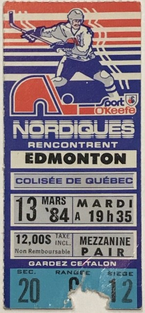 1984 Wayne Gretzky 900th Point Ticket Stub 18.50