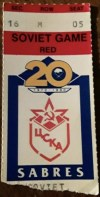 1990 Buffalo Sabres ticket stub vs Red Army
