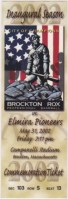 2002 Brockton Rox debut ticket stub vs Elmira