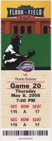 2008 Greenville Drive Ticket Stub vs Rome