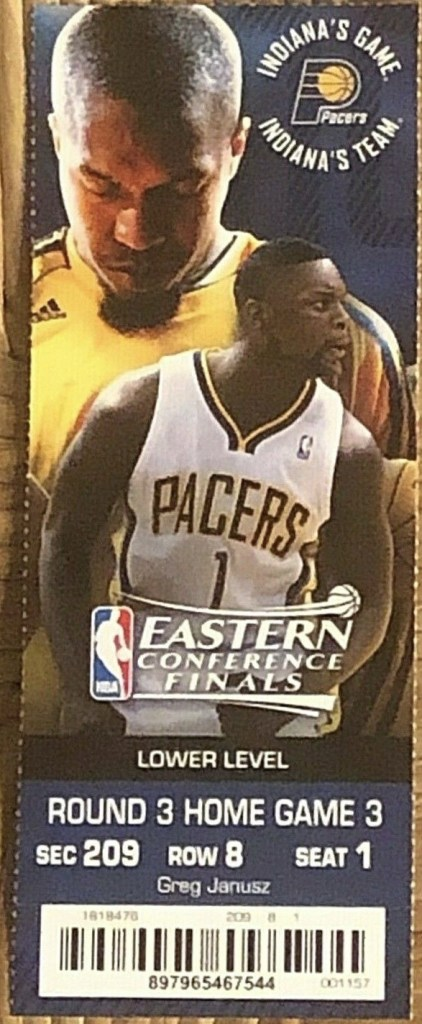 2013 NBA Conference Finals ticket stub Pacers Heat