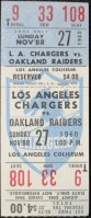 1960 Los Angeles Chargers ticket vs Oakland