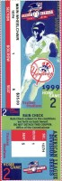 1999 ALDS Game 2 ticket stub Rangers Yankees