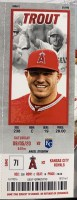 2020 Mike Trout 300th Home Run ticket stub