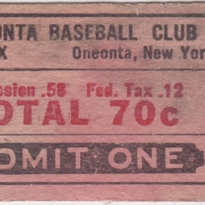 Oneonta Red Sox ticket stub