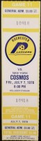 1978 Rochester Lancers unused ticket vs NY Cosmos