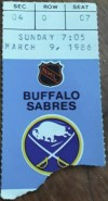 1986 Gilbert Perreault 500th Goal ticket stub