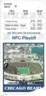 1988 NFC Divisional Game ticket stub Philadelphia Chicago
