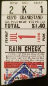 1939 Boston Red Sox Ticket Stub