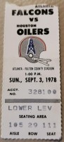 1978 Earl Campbell Debut ticket stub
