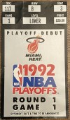 1992 NBA Playoffs ticket stub Michael Jordan 56 points