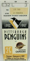 1997 Mario Lemieux 600th Goal ticket stub