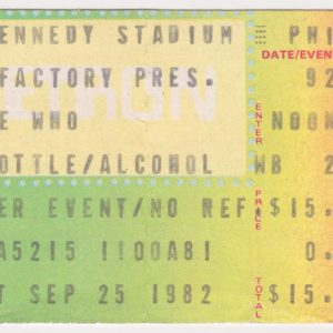 1982 The Who Concert Ticket Stub Philadelphia for sale