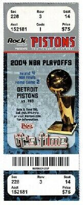 2004 NBA Finals Game 4 ticket stub Lakers Pistons 30