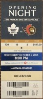 2005 Eric Lindros Leafs Debut ticket stub 20