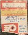 1969 Philadelphia Flyers ticket stub vs Red Wings