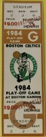 1984 Boston Celtics Playoffs ticket vs Milwaukee