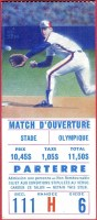 1988 Montreal Expos Opening Day ticket stub vs Mets