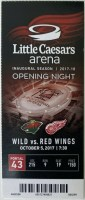 2017 Red Wings Little Caesars Arena debut ticket stub