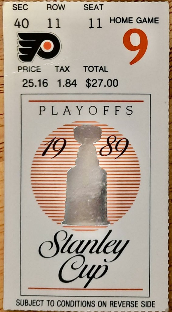 1989 Stanley Cup Final Game 6 ticket stub Canadiens Flyers