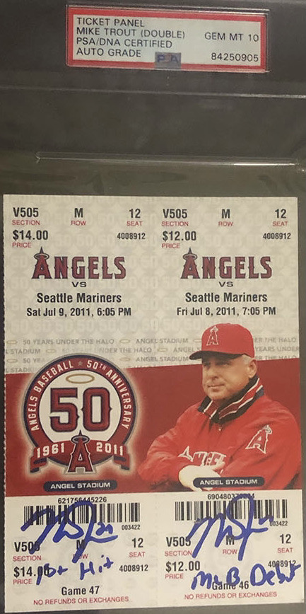 Mike Trout Debut and 1st Hit Panel Ticket
