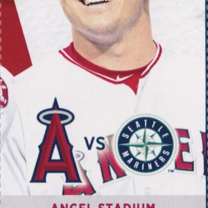 2017 Los Angeles Angels Full Ticket vs Mariners Apr 8 Mike Trout