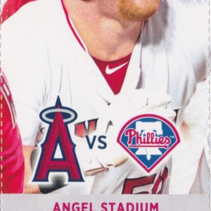 2017 Angels Full Ticket vs Phillies Aug 3 Mike Trout HR