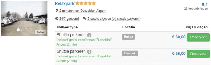 Goedkoop parkeren Düsseldorf Airport via Parkos