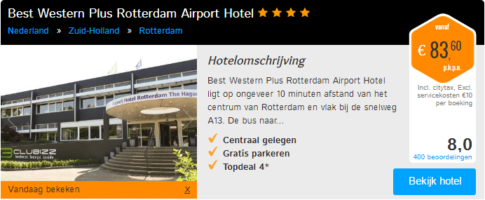 Park, sleep & fly Rotterdam Airport