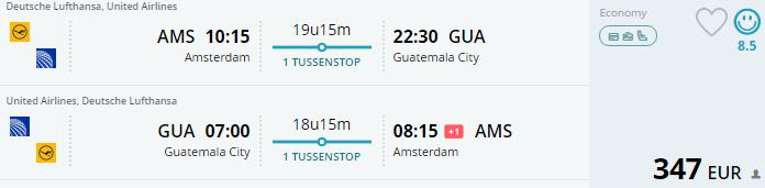 Voorbeeldboeking Guatemala 20 november - 11 december