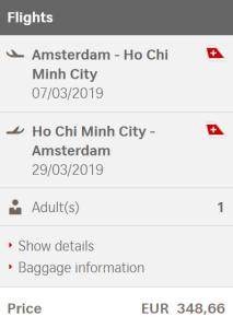 Voorbeeldboeking Ho Chi Minh City