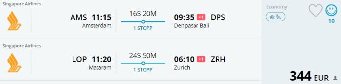 Voorbeeldboeking AMS - Bali & Lombok - Zurich 1 - 16 mei